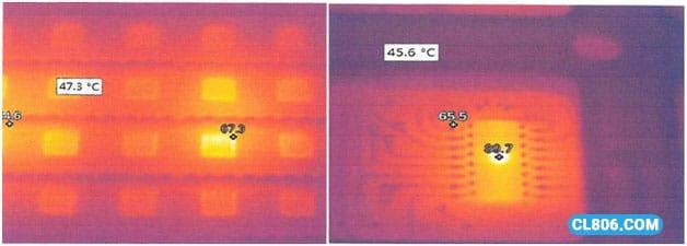 تست دما و شدت نور ماژول های تک رنگ