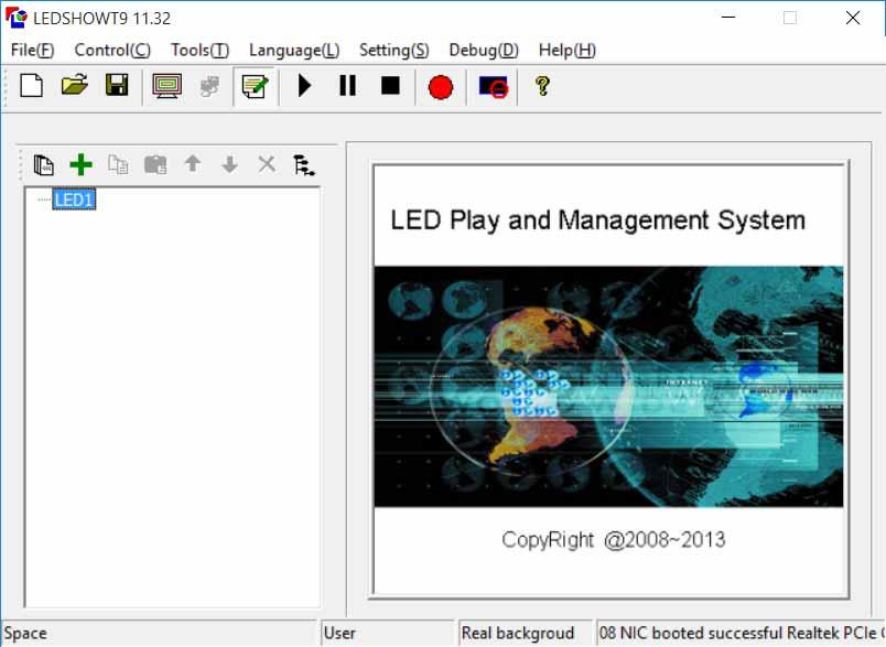 نرم افزار LEDSHOWT9